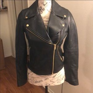 J crew collection leather jacket size 000